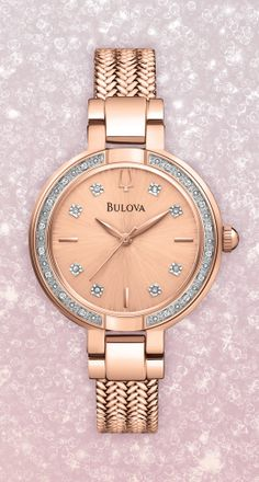 Rose Gold and Diamond Bulova Watch