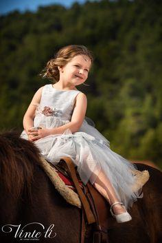 Φόρεμα βάπτισης Vinte Li 2906 μαζί με κορδέλα για τα μαλλιά, annassecret
