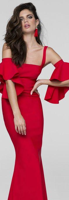 Slim Long Gown by Tarik Ediz