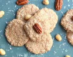 A buttery blend of nuts and coconut make these easy No-Bake Keto Cookies deliciously satisfying. There's zero baking required! Coconut Cookies, Keto Cookies, No Bake Cookies, Freezer Cookies, Coconut Flour, Raw Food Recipes, Low Carb Recipes, Cookie Recipes, Cream Cheeses