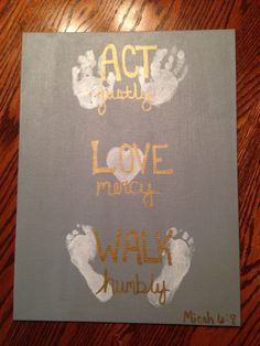 Do this but put the sound of his heartbeat audio behind the Love instead of traditional heart Scripture Crafts, Bible Story Crafts, Preschool Christmas Crafts, Fun Crafts, Crafts For Kids, Footprint Crafts, Christian Crafts, Handprint Art, Baby Art
