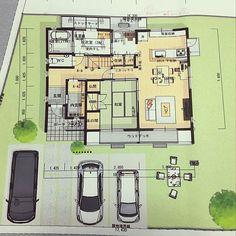 Japanese House, Environmental Art, Exterior Design, Floor Plans, Flooring, How To Plan, Interior, Modern, Room