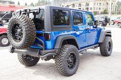 Custom 2016 Jeep Wrangler Sport Unlimited Hydro Blue