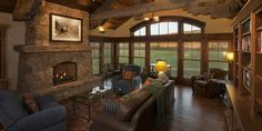 Real Life Inspiration: Cool Cabin Living Room