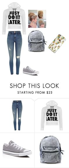 """Hope you had a great day!"" by agdancer10 ❤ liked on Polyvore featuring River Island, WearAll and Converse"