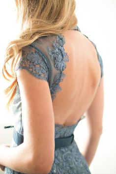 Baby Blue Gown #Backless