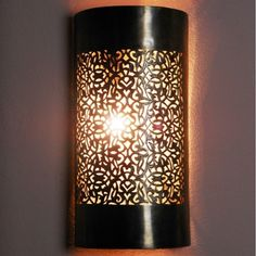 Moroccan lamps and wall light, sconce and its delicate openwork pattern. Moroccan Ceiling Light, Moroccan Lamp, Moroccan Lanterns, Balcony Lighting, Wall Sconce Lighting, Chandelier Lighting, Sconces, Glass Wall Lights, Ceiling Lights