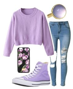 """""""Tumblr Purple"""" by gracefully-artistic on Polyvore featuring Converse and Dolce&Gabbana"""