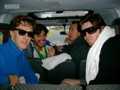 Third Star cast. Benedict and JJ Feild in the front seat on the right
