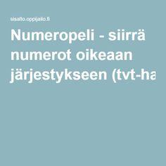 Numeropeli - siirrä numerot oikeaan järjestykseen(tvt-harjoitus).