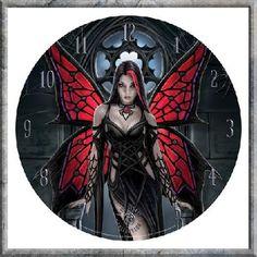 Anne Stokes Aracnafaria Clock - AS 34cm