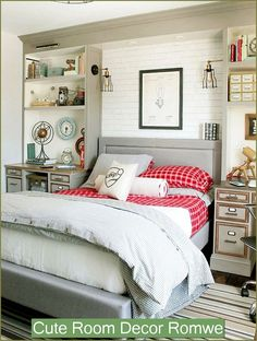 This Awesome Photo of 15 Teen Loft Beds Ideas is awesome for your home design idea.  Many of our visitors choose this as favourite in Bedroom Category. Diy Home Decor Bedroom, Teen Room Decor, Farmhouse Bedroom Decor, Diy Home Decor On A Budget, Small Room Bedroom, Small Living Rooms, Dream Bedroom, Girls Bedroom, Living Room Decor