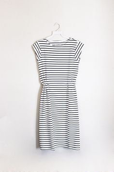 Gathered Stripe Dress — clad & cloth