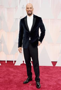 Actor and rapper Common arriving at 2015 Oscars