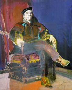 Denis Castellas, untitled (Noureev 2), 2005, oil on canvas, 157 x 198 cm