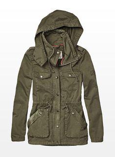 Parka Jacket - Garage I need it Khaki Jacket, Green Jacket, Jacket Style, Fall Outfits, Casual Outfits, Cute Outfits, Work Outfits, Travel Outfits, Garage Clothing