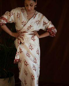 Wrap Dress, Sari, Dresses, Fashion, Dress, Gowns, Moda, Saree, Fashion Styles