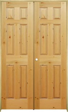 Mastercraft® Knotty Pine Raised 6 Panel Prehung Interior Double Door At  Menards®: