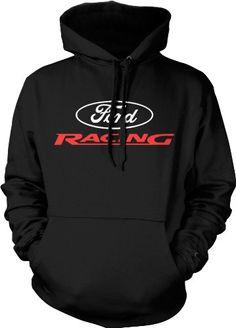 Amazon.com: Ford Racing Mens Sweatshirt, Ford Motor Company Racing Logo Pullover Hoodie: Clothing