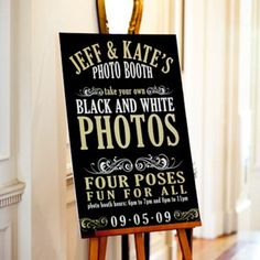 Vintage Word Play Wedding Sign The vintage lettering on this photo booth sign gives a subtle nod to a bygone era and fits perfectly with the black-and-white photo theme. Budget Wedding, Fall Wedding, Diy Wedding, Wedding Events, Wedding Photos, Wedding Planning, Dream Wedding, Wedding Ideas, Wedding Stuff