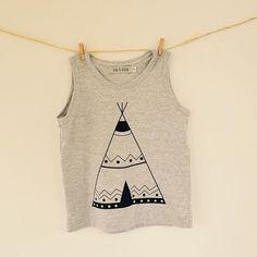 Musculosa B&A Teepee www.bowandarrow.com.ar #Teepee #tribaloutfit #fashionkids