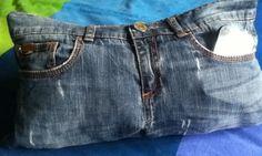 Cuscino jeans porta telecomando