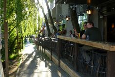 Best Patios on Commercial Drive - a people watcher's paradise in Vancouver, BC Canada Big Van, My Happy Place, Places Ive Been, Beautiful Places, Commercial, The Incredibles, News, Drinking, Courtyards
