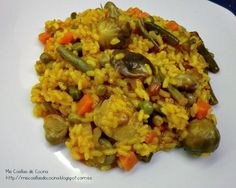 Arroz con Verduras y Setas Couscous, Lunches And Dinners, Fried Rice, Risotto, Healthy, Ethnic Recipes, Food, Murcia, Yummy Yummy