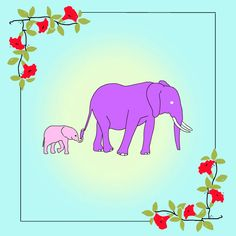 Animated Mothers Day gifs pictures) ⭐ Pictures for any occasion! Mothers Day Gif, Happy Mother Day Quotes, Mothers Day 2018, Mothers Love, Happy Elephant, Elephant Love, Purple Elephant, Mothers Day Inspirational Quotes, Happy Mother's Day Gif