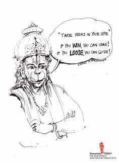 Friday, May 8, 2015 Daily drawings of Hanuman / Hanuman TODAY / Connecting with Hanuman through art / Artwork by Petr Budil [Pritam] www.hanuman.today