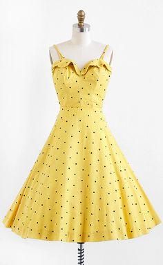 vintage 1950s polkadot bustier + skirt set | 50s rockabilly dress | www.rococovintage.com