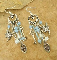 Chandelier Earrings Fairy Assemblage Earrings by BohoStyleMe - motanu-jewelry. Chandelier Earrings, Beaded Earrings, Earrings Handmade, Beaded Jewelry, Silver Jewelry, Handmade Jewelry, Fairy Jewelry, Indian Earrings, Flower Earrings