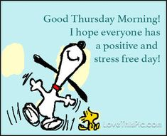 Snoopy Good Morning Thursday Image Quote
