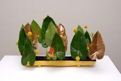 Ikebana flower arrangement jiyuka ikenobo. Indonesia chapter