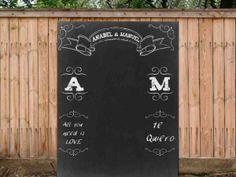Chalkboard wedding photocall.backdrop. #photocall tiza.#backdrop #photobooth #photocall