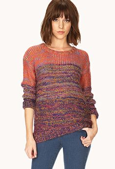 Neon Marled Sweater | FOREVER21 - 2000090343 #ForeverHoliday