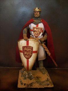 "12"" CUSTOM KING RICHARD THE LIONHEART, MEDIEVAL CRUSADER 1/6 FIGURE IGNITE #IGNITE"