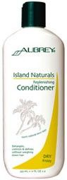 Aubrey Organics Island Naturals Replenishing Conditioner for Dry, Frizzy Hair. Frizzy flyaways got you frazzled? Instant moisture-replenishing conditioner and detangler puts your hair at ease, restoring manageability and sheen with rich plant butters. Leaves lengths silky-smooth and softens and defines curls without weighing down the hair. http://www.theremustbeabetterway.co.uk/aubrey-organics-island-naturals-replenishing-conditioner.html