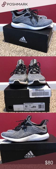 d6a51aa72 adidas alphabounce adidas alphabounce sneakers Grey with black laces and  design Worn some but still very