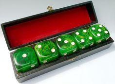 Bakelite dice case by BRUNOPARIS, via Flickr