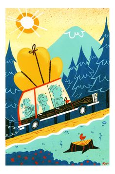 "downshiftmcgurk:  eatsleepdraw:  ""Let's Go Camping"" - Gouache, 2012 Kellan Stover - illustrator/animator (portfolio)(tumblr)  We need to go camping next year!"
