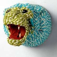 Recycled climbing rope art