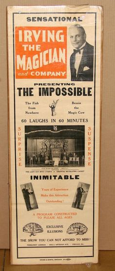 Sensational Irving the Magician and Company