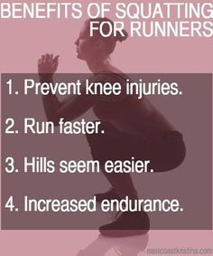 Why runners should do squats!