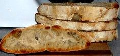 Homemade No-Knead Ciabatta Bread. Also known as Italian Slipper Bread. You'd never think Ciabatta was this simple to make, as you barely touch the dough. Artisan Bread Recipes, Baking Recipes, Homemade Ciabatta Bread, Tasty Bread Recipe, No Knead Bread, Yeast Bread, Bread Alternatives, Bread Appetizers, Vegan Bread