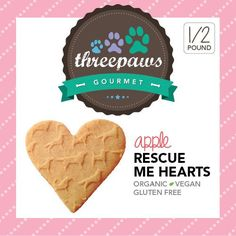 Apple Rescue me Hearts  by 3pawsgourmet on Etsy