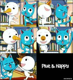 Plue & Happy- fairy tail.