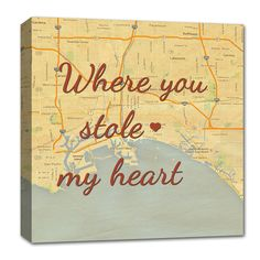 Imagine your spouse opening this up on Christmas morning!! #gifts #maps #love #quote #christmas #anniversary #decor Craft Gifts, Diy Gifts, Valentine Day Gifts, Holiday Gifts, Mahal Kita, Anniversary Gifts, Cotton Anniversary, Custom Canvas, Christmas Morning