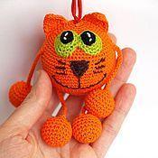 """Куклы и игрушки ручной работы. Ярмарка Мастеров - ручная работа развивающая игрушка погремушка """"Кот Апельсин"""". Handmade."""