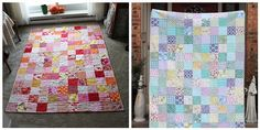 Colors Quilt Tutorial with PDF instructions on laying out the colours